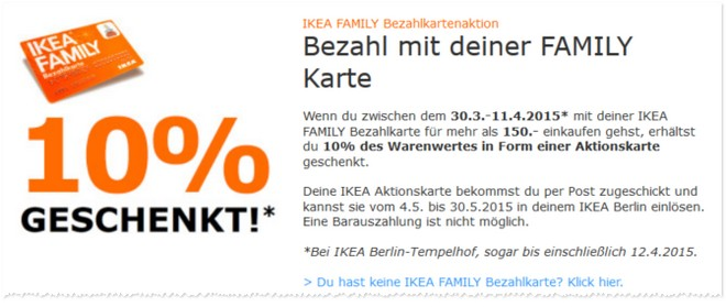 ikea bezahlkarte in berlin 10 aktionskarte geschenkt. Black Bedroom Furniture Sets. Home Design Ideas