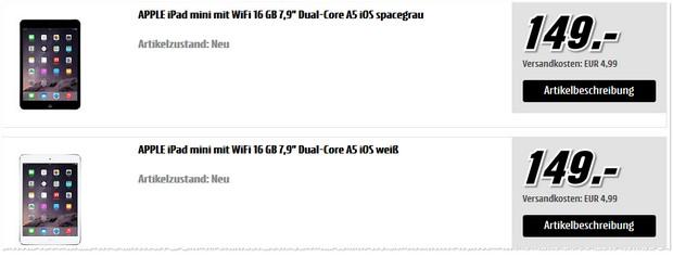 iPad mini für 149 €