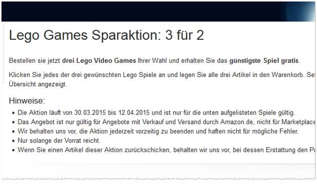 Bei der LEGO Games 3-für-2-Aktion bei Amazon bekommt ihr das günstigste Spiel gratis