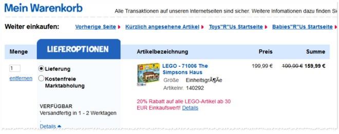 LEGO The Simpsons Haus mit Rabatt