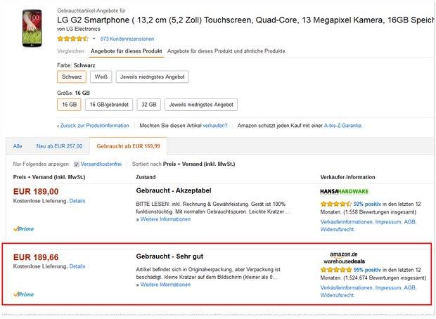 LG G2 bei den Amazon Warehouse Deals