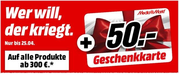 Media Markt Geschenkkarten-Aktion am 24.4.2015 und 25.4.2015