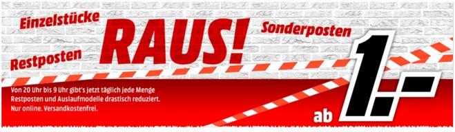 Media Markt Raus! ab 1 Euro