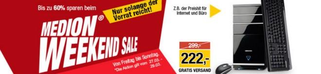 Medion Weekend Sale ab 27.3.2015