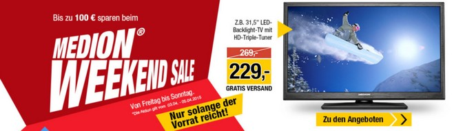 Medion Weekend Sale ab 3.4.2015