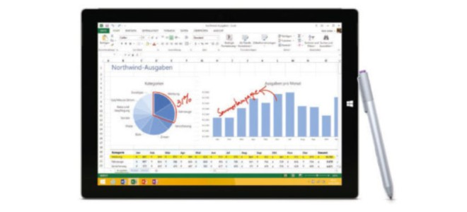 Microsoft Surface Pro 3 mit Intel i3 Prozessor