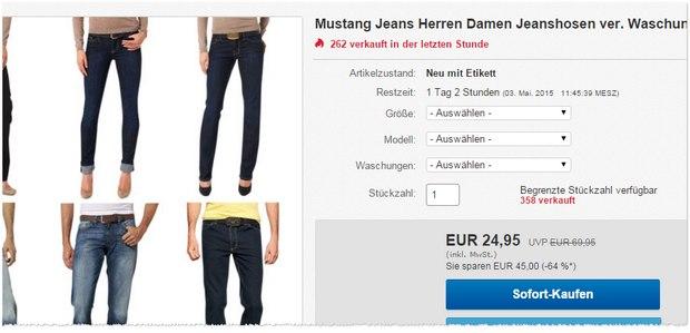 Mustang-Jeans für günstige 24,95 €