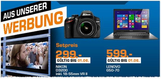 Nikon D3200 bei Saturn für 299 €