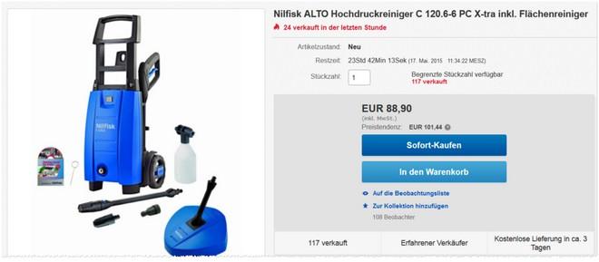 Nilfisk Alto Hochdruckreiniger C 120.6-6 PC X-TRA