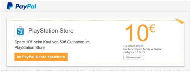PlayStation Store Gutschein