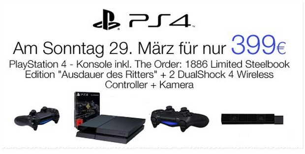 PS4 Angebot bei Amazon ab 29.3.2015