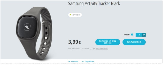 Samsung Activity Tracker Angebot