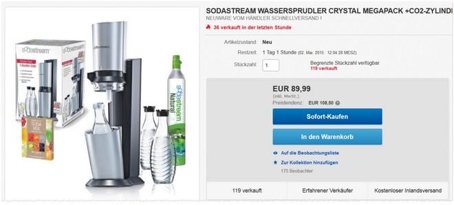 Sodastream Crystal Megapack als eBay Angebot