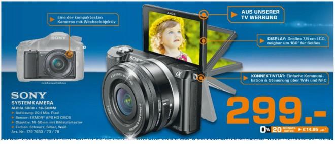 Sony Alpha 5000 Kit mit 16-50mm Objektiv