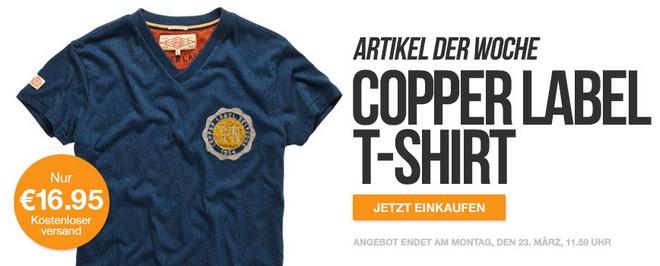 Superdry Copper Label Newton T-Shirt zum Outlet-Preis von 16,95 €