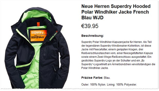 Superdry Windhiker unter 40 €
