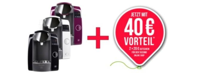 Bosch Tassimo Joy 40 Euro-Gutschein
