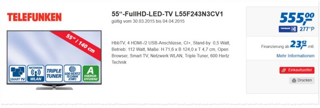 Telefunken L55F243N3CV1