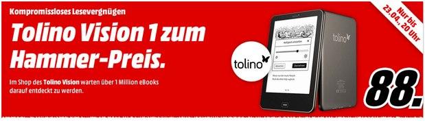 Tolino Vision 1 für 88 € bei Media Markt
