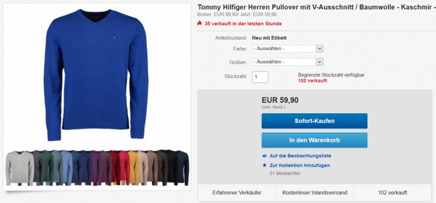 Tommy Hilfiger Pullover Pima