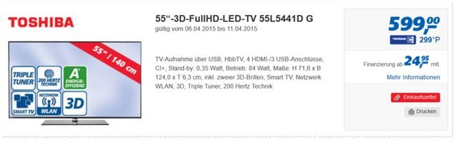 Toshiba 55L5441DG