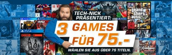 3 Games für 75 Euro Aktion bei Saturn