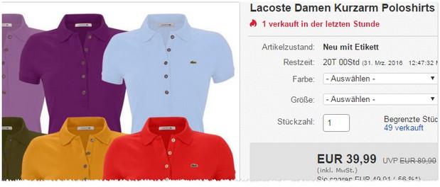 Lacoste Polo-Shirts
