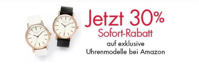 Amazon-Uhren-Sofort-Rabatt ohne Gutschein