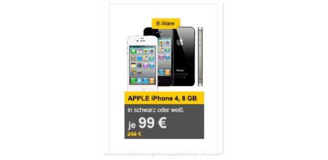 Apple iPhone 4 8GB ohne Vertrag gebraucht als B-Ware-Angebot
