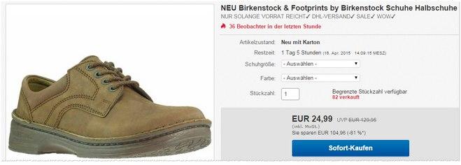 Birkenstock Footprints Schuhe