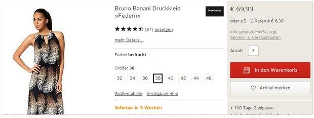 Bruno Banani Kleid aus der OTTO-Werbung (TV-Spot)