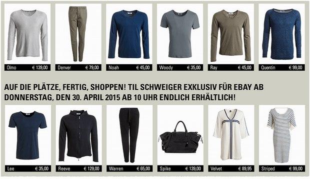 CETIL eBay: Til-Schweiger-Kollektion am 30.4.2015, 10 Uhr