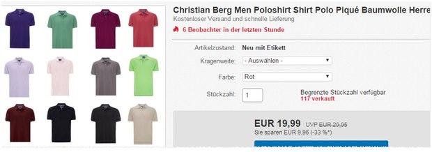 Christian Berg Polohemden