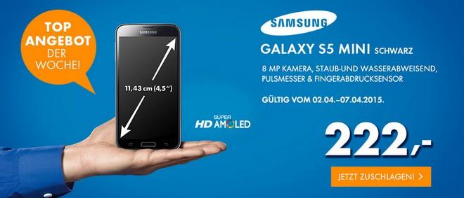 Euronics Angebot am Donnerstag 2.4.2015 mit Samsung Galaxy S5 mini