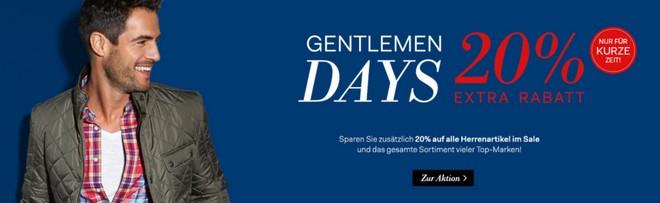 Fashion ID Gentlemen Days Gutschein