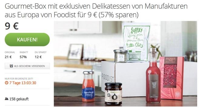 Foodist Gutschein bei Groupon