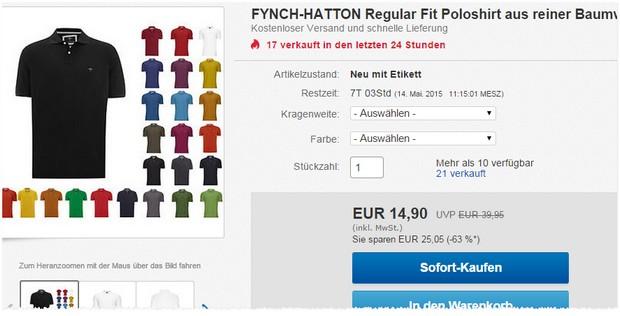 Fynch Hatton Polohemden