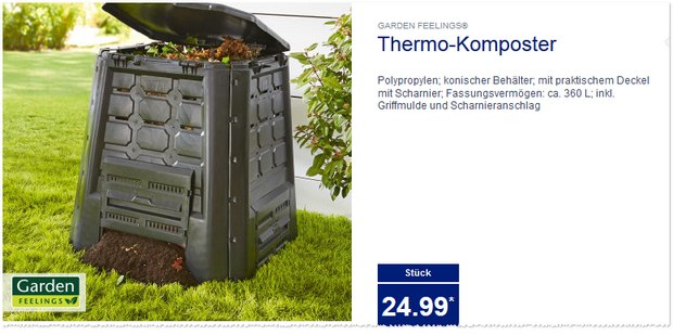 garden feelings thermo komposter bei aldi nord. Black Bedroom Furniture Sets. Home Design Ideas