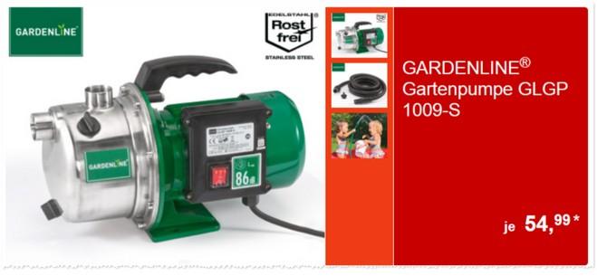 Gardenline GLGP 1009-S Gartenpumpe