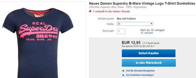 Im Superdry Outlet Shirts kaufen
