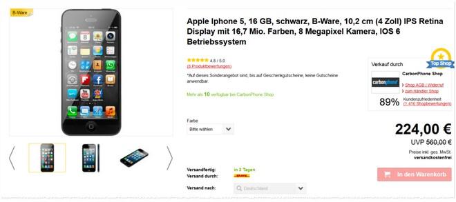 iPhone 5 mit Gebrauchsspuren