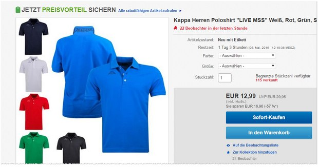 Kappa Polo-Shirts LIVE MSS