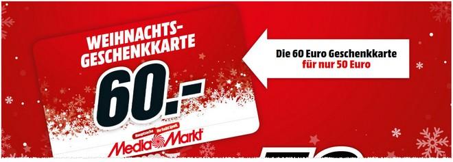 60 € Media Markt Geschenkkarten