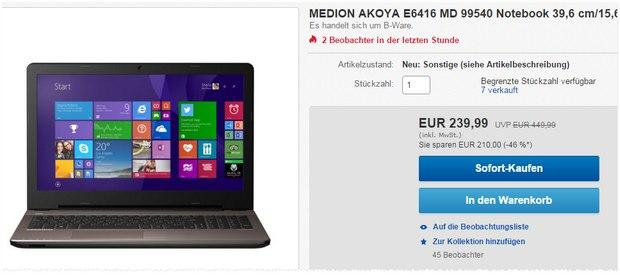 Medion Akoya E6416