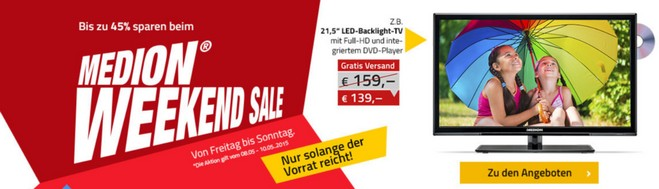 Medion Weekend Sale ab 8.5.2015