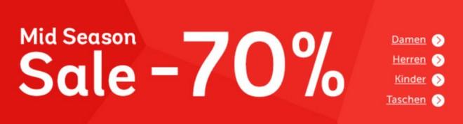 Mirapodo Mid Season Sale 2015 mit bis zu 70 Prozent Rabatt