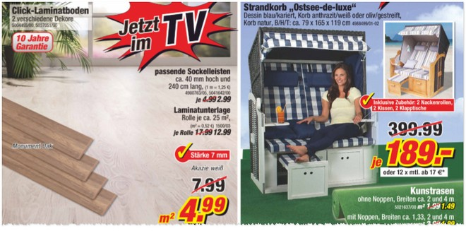poco strandkorb mit tv werbung preis 189. Black Bedroom Furniture Sets. Home Design Ideas