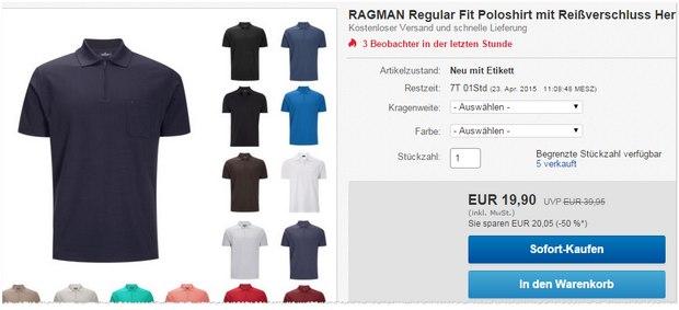 Ragman Polo-Shirts für 19,90 €