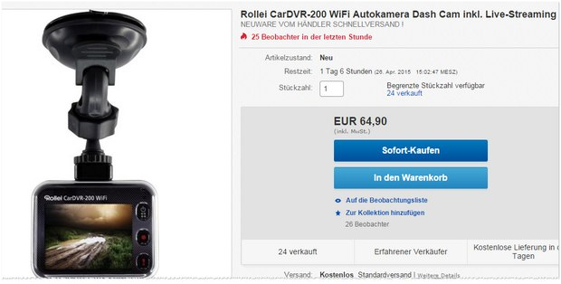 Rollei Dashcam CarVDR-200 WiFi