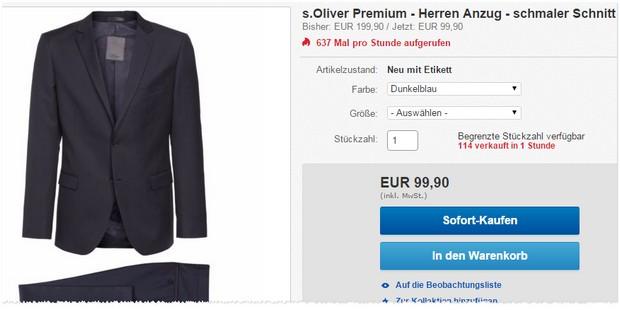 s.Oliver Business-Anzug bei eBay